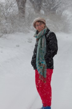 Cathy In The Snow