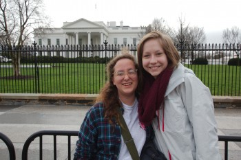 Dorothy and Karlee at the White House