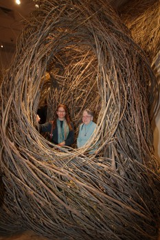 Cathy and Dot in 'Shindig' by Patrick Dougherty