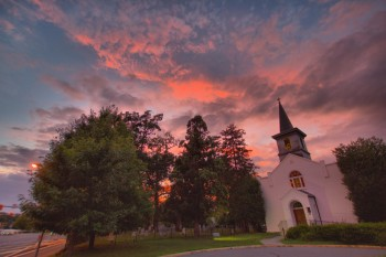 Sunset, St. Mary's Parish Church