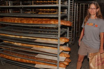 Huge Loaves of Bread, Rockland Bakery