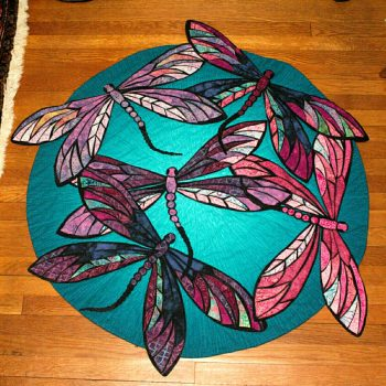'Dragonflies' Quilt by Dot