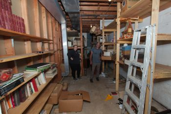 Maggie and David in Basement Storeroom