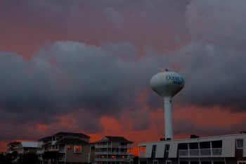 Ocean Isle Water Tower at Sunset