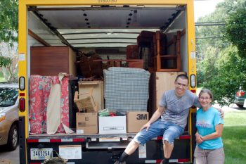 Rental Truck Filled With Furniture