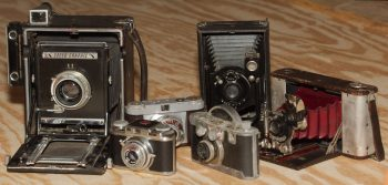Six Old Cameras