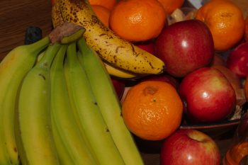 Fruit - Bananas, Mandarins, and Apples