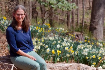 Cathy and Daffodils
