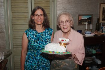 Cathy, Margaret, and Lamb Cake