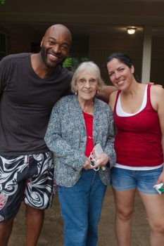 Margaret with Ugo and Jennifer