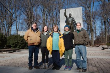 Bob, Dorothy, Maureen, Cathy, and Henry at Teddy Roosevelt Monument