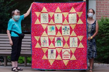 Dot's Latest Quilt for Ramallah Friends School